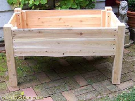 Raised Planter Boxes With Legs by 24in Raised Garden Planter On Legs Wooden Planters