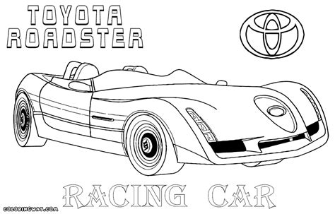 Page Toyota Racing Car Coloring Pages Coloring Pages To And