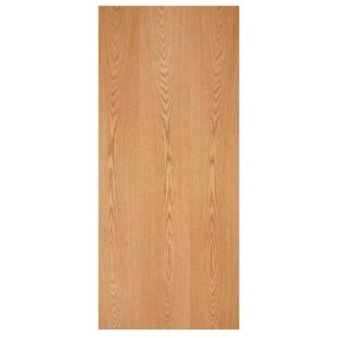 Masonite 30 In X 80 In Smooth Flush Hardwood Hollow Core Oak Veneer Interior Doors