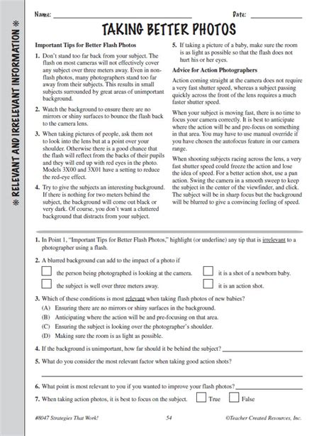 printable reading comprehension test for 7th grade reading comprehension grade 7 8 practice test