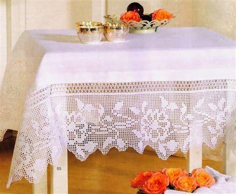 Manteles Tejido A Crochet Con Tela | trico y crochet madona m 237 a manteles de crochet y tela con