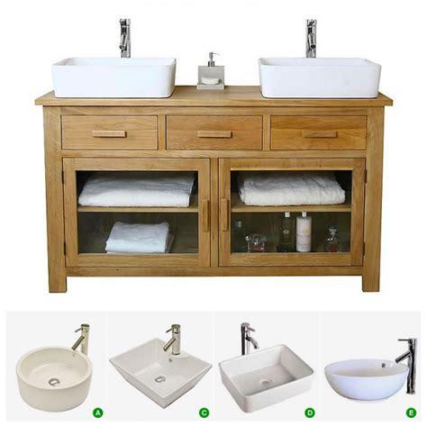 double basin unit bathroom 50 off double basin vanity unit with oak bathroom cabinet