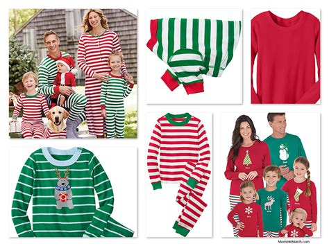 matching christmas pajamas holiday family pjs sleepwear