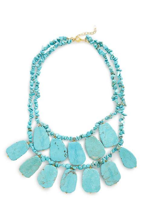 Turquoise Statement Necklace panacea turquoise statement necklace everything turquoise