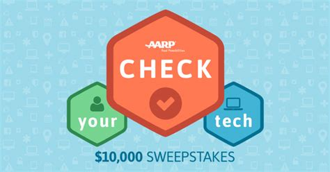 Aarp Sweepstakes Entry - aarp sweepstakes check your tech win 10 000