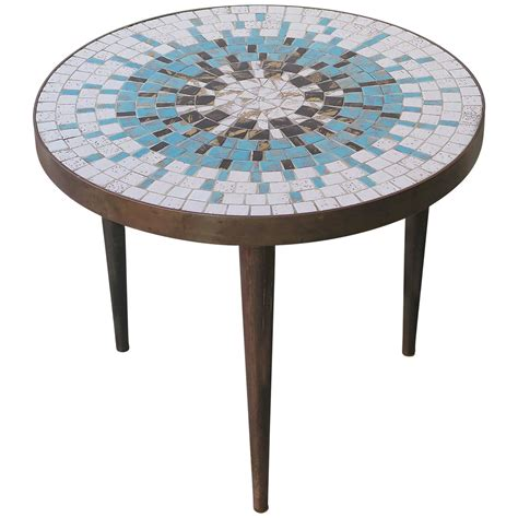 mosaic tables for sale small mid century mosaic table by luberto for sale at 1stdibs