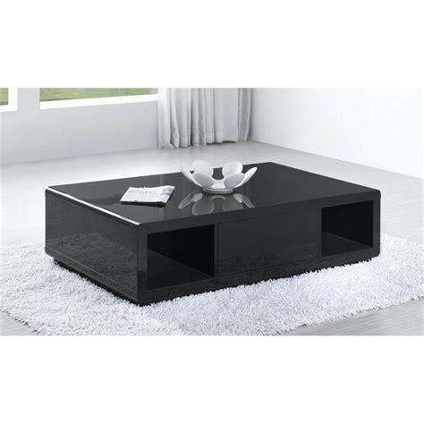 Table Basse Noir Laquã Table Basse Laqu 233 Noir Pas Cher Mobilier Sur