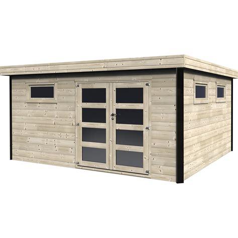 Garage En Bois Toit Plat 436 by Abri De Jardin Bois Elite 16 83 M 178 Ep 28 Mm Leroy Merlin