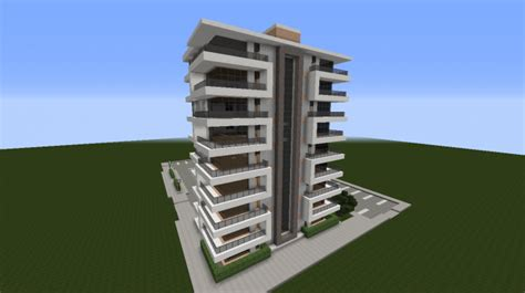 modern apartment building 2 minecraft project