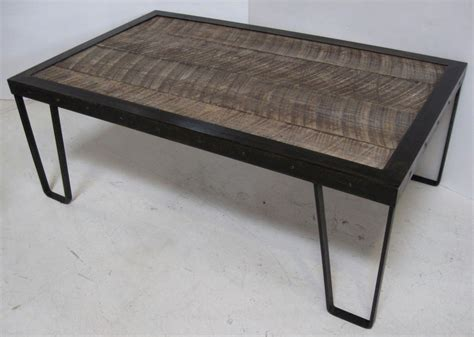 Rustic Iron Coffee Table Rustic Wood And Iron Coffee Table At 1stdibs