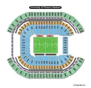 University Of Phoenix Stadium Map by University Of Phoenix Stadium Phoenix Az Seating Chart View