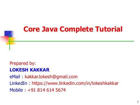 Tutorial Java Core | core java complete notes paid call at 91 814 614 5674
