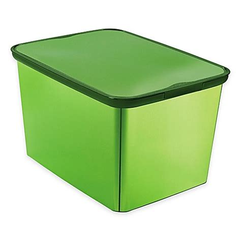 plastic bathroom storage containers curver large plastic metallic storage tote with lid bed