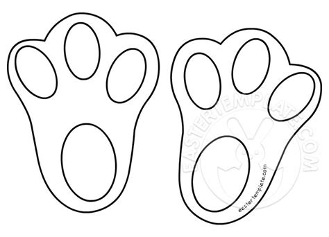 printable easter bunny feet easter template