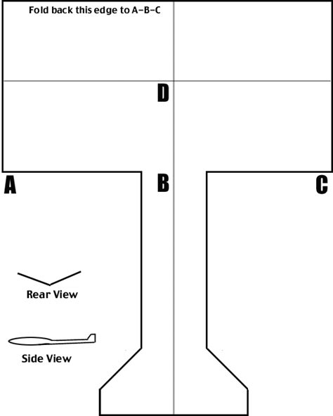 paper plane template science for how to make a paper airplane