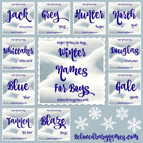 names for a beloved baby names wonderful winter names for boys