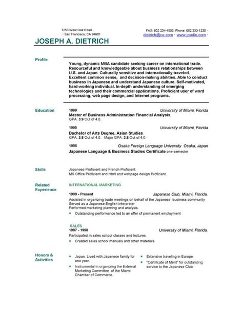 resume template exles free 85 free resume templates free resume template downloads