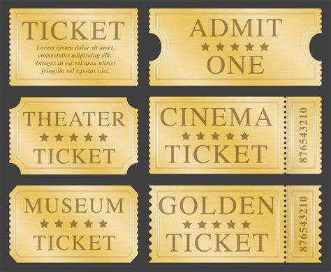 Blank Golden Ticket Template by Golden Ticket Template Free