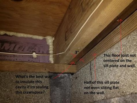 Concrete Block House crawlspace joist sill question w photos doityourself com