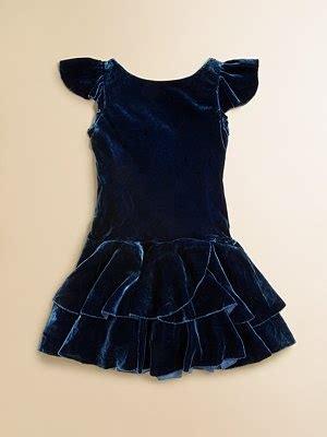 ralph lauren toddlers  girls velvet dress