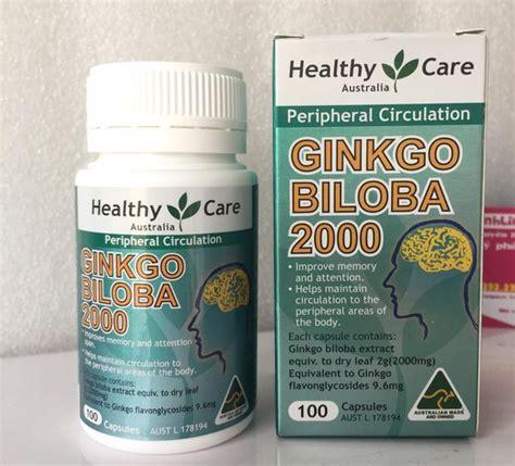 Healthy Care Ginkgo Biloba 2000mg Isi 100 Capsules Thuốc Bổ N 227 O Healthy Care Ginkgo Biloba 2000mg Của 218 C Gi 225