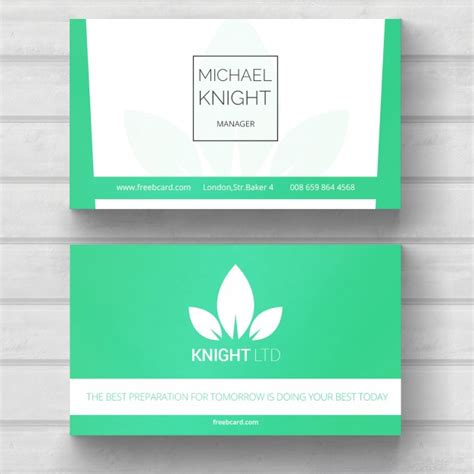 Green Themed Business Card Template by Green Business Card Nature Theme Psd File Free
