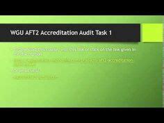 Wgu Accreditation Mba by Read Quot Wgu Aft2 Accreditation Audit Task 4 Wgu Aft2