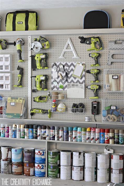 garage supplies organizing the garage with diy pegboard storage wall