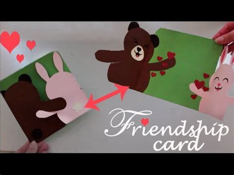 how to make a friendship card friendship card easy diy