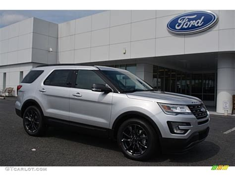 ford 2017 silver 2017 ingot silver ford explorer xlt 115251014 photo 8