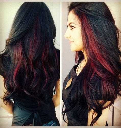 drastic highlighted hair styles brunette hairstyles with red highlights short hairstyle 2013