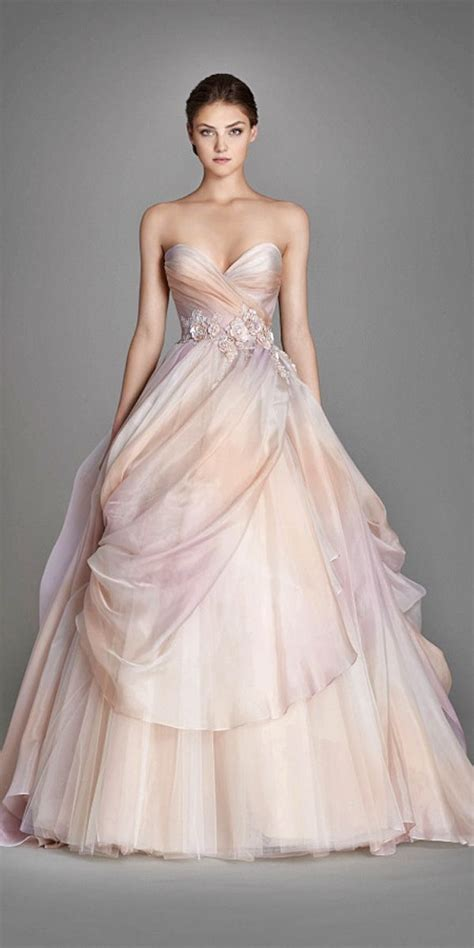 Wedding Dresses With Color And Design by Color Wedding Dress Bridalblissonline
