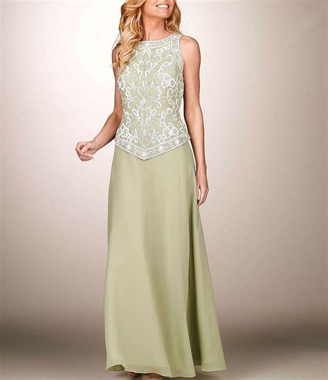 jkara chiffon beaded gown dillards