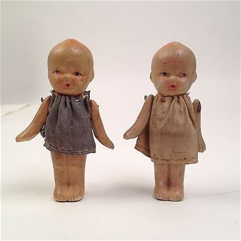 bisque kewpie doll made in japan lot of 2 vintage kewpie dolls made in occupied japan