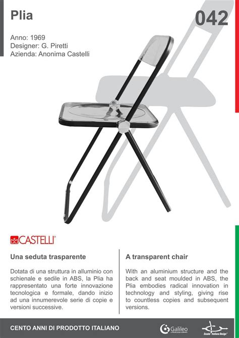 folding chair design history 16 best plia castelli by giancarlo piretti images on