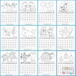 printable calendar kids 2017 itsy bitsy fun