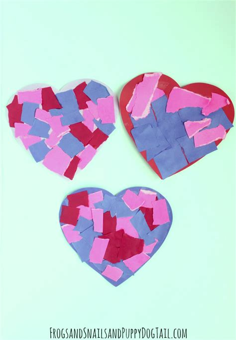 Craft Paper Hearts - motor skill craft fspdt