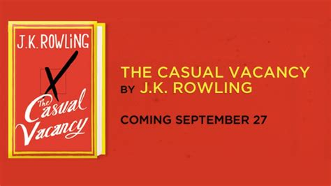 Jk Rowling The Casual Vacancy jk rowling shows new book cover the casual vacancy