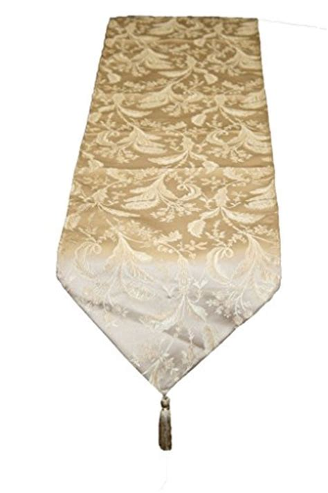Gold Runners For Tables by Luxury Damask 13 Quot X 90 Quot Gold Table Runner