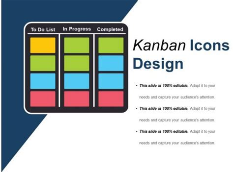 kanban design icons   powerpoint