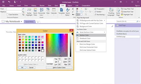 section color quickly change sections color of an onenote notebook to