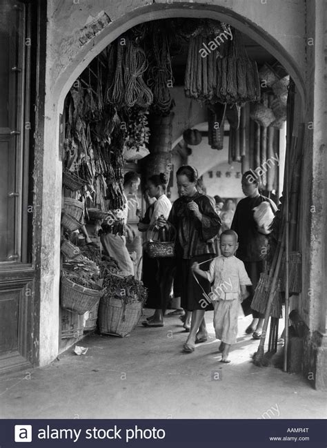 singapore rubber st 1930s 1940s covered sidewalk market in