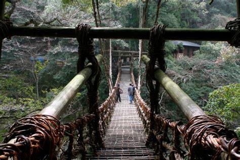 japanese bridges dangerous rope bridges that will leave you without breath