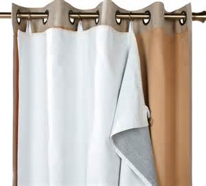 Quot blackout liner curtain panel white 45x56 contemporary curtains