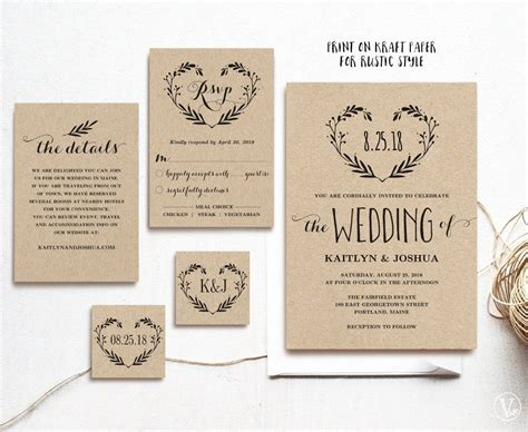 rustic vintage wedding invitation ideas