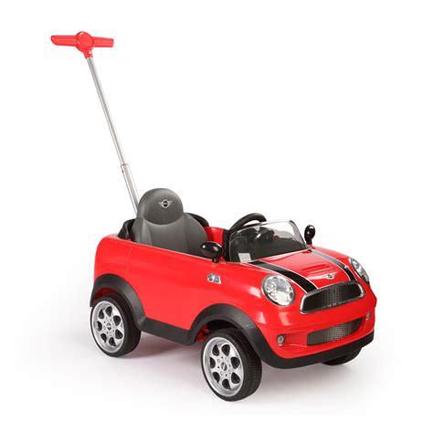 mini cooper push car rojo mosca