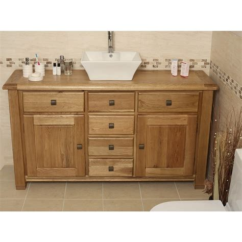 Oak Bathroom Vanity Ohio Large Rustic Oak Bathroom Vanity Unit Best Price