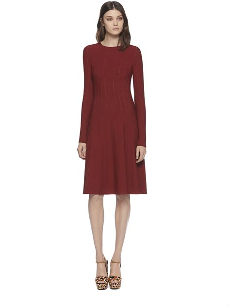 Longdress Gucci With Label gucci stretch sleeve dress in lyst