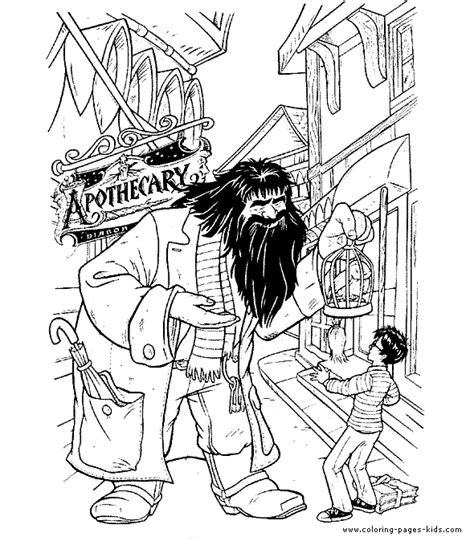 harry potter cartoon coloring pages harry potter color page cartoon characters coloring pages