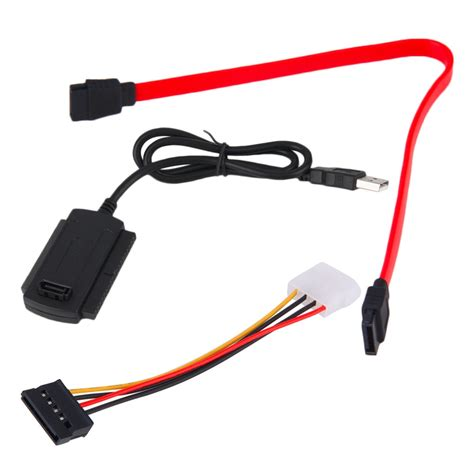 Usb To Ide Sata Cable Adapter Berkualitas sata pata ide drive to usb 2 0 adapter converter cable for